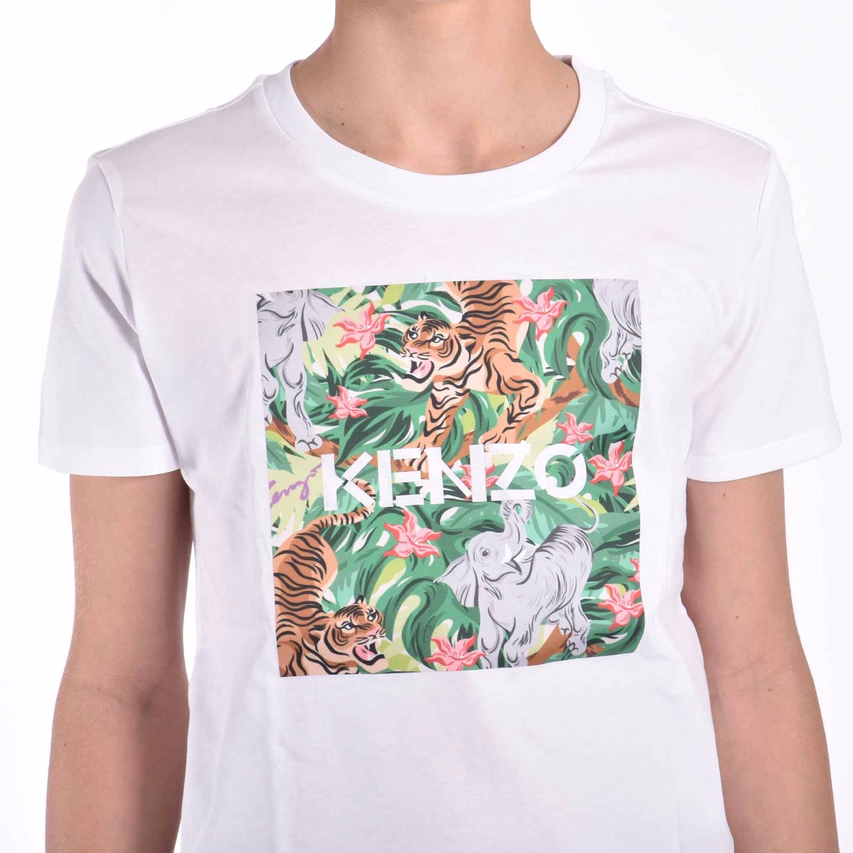 T-shirt con foresta - Bianca