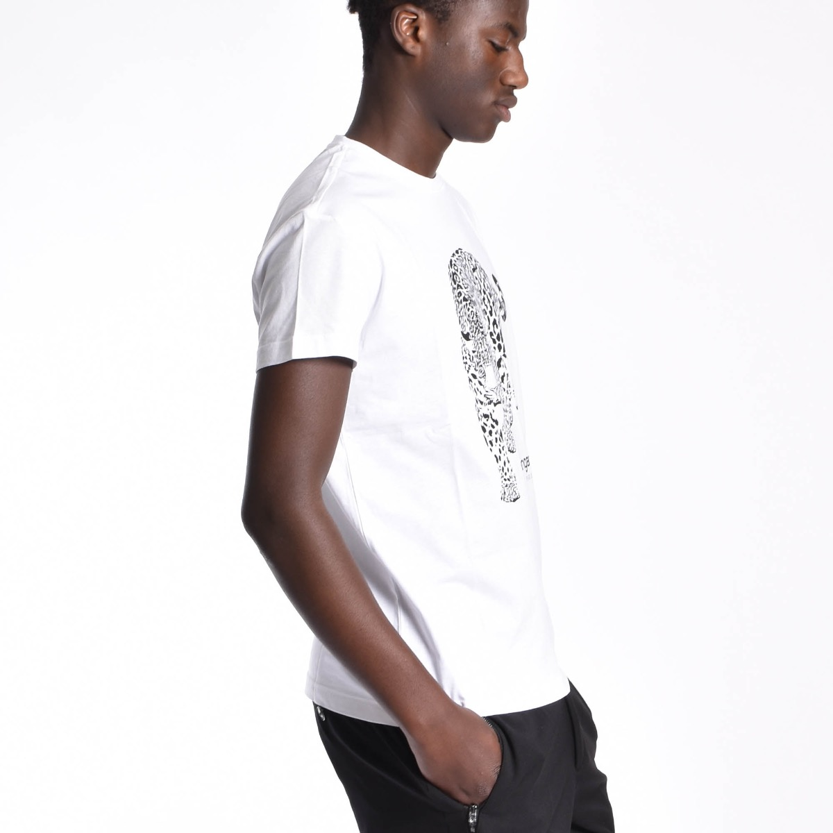 T-shirt con Giaguaro - Bianca