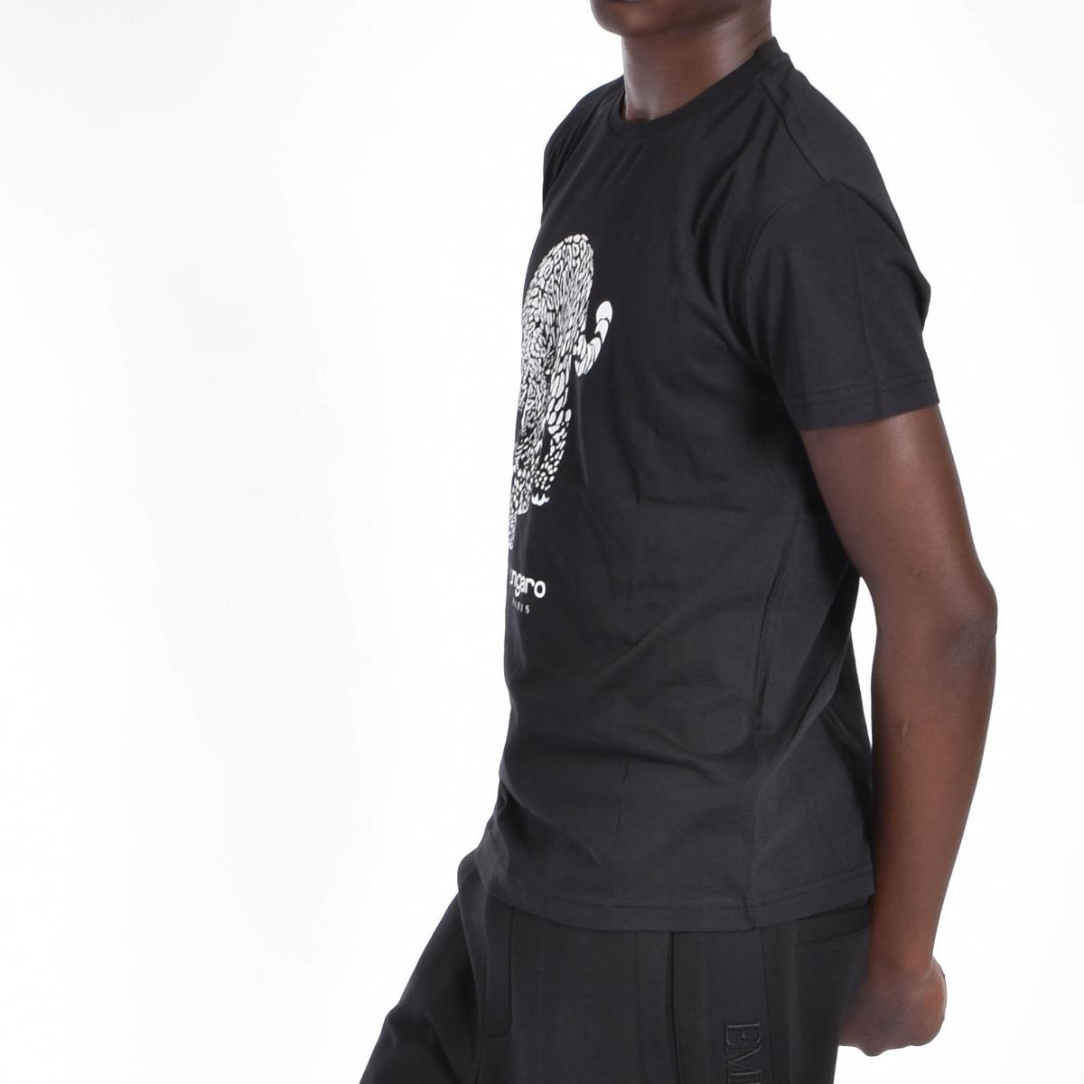 T-shirt con Giaguaro - Nera