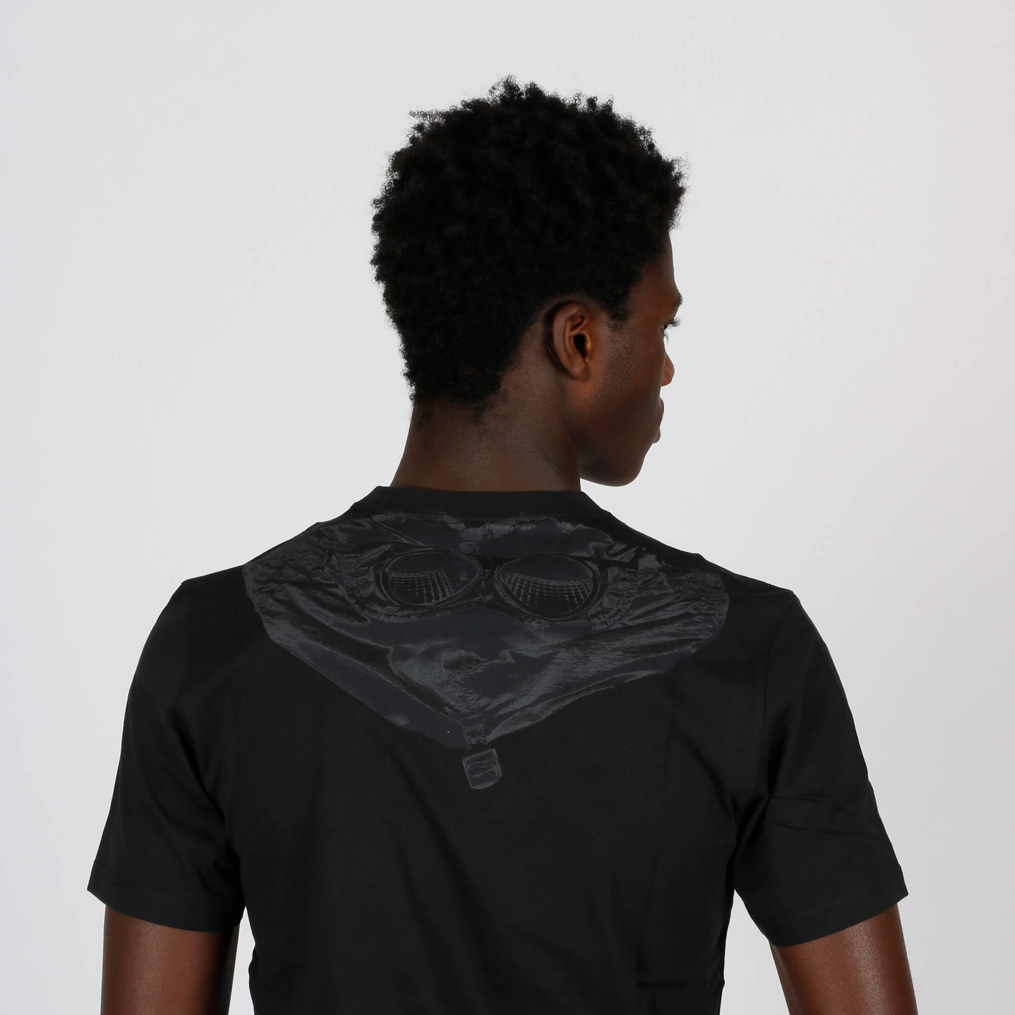 T-shirt goggle hood - Nero