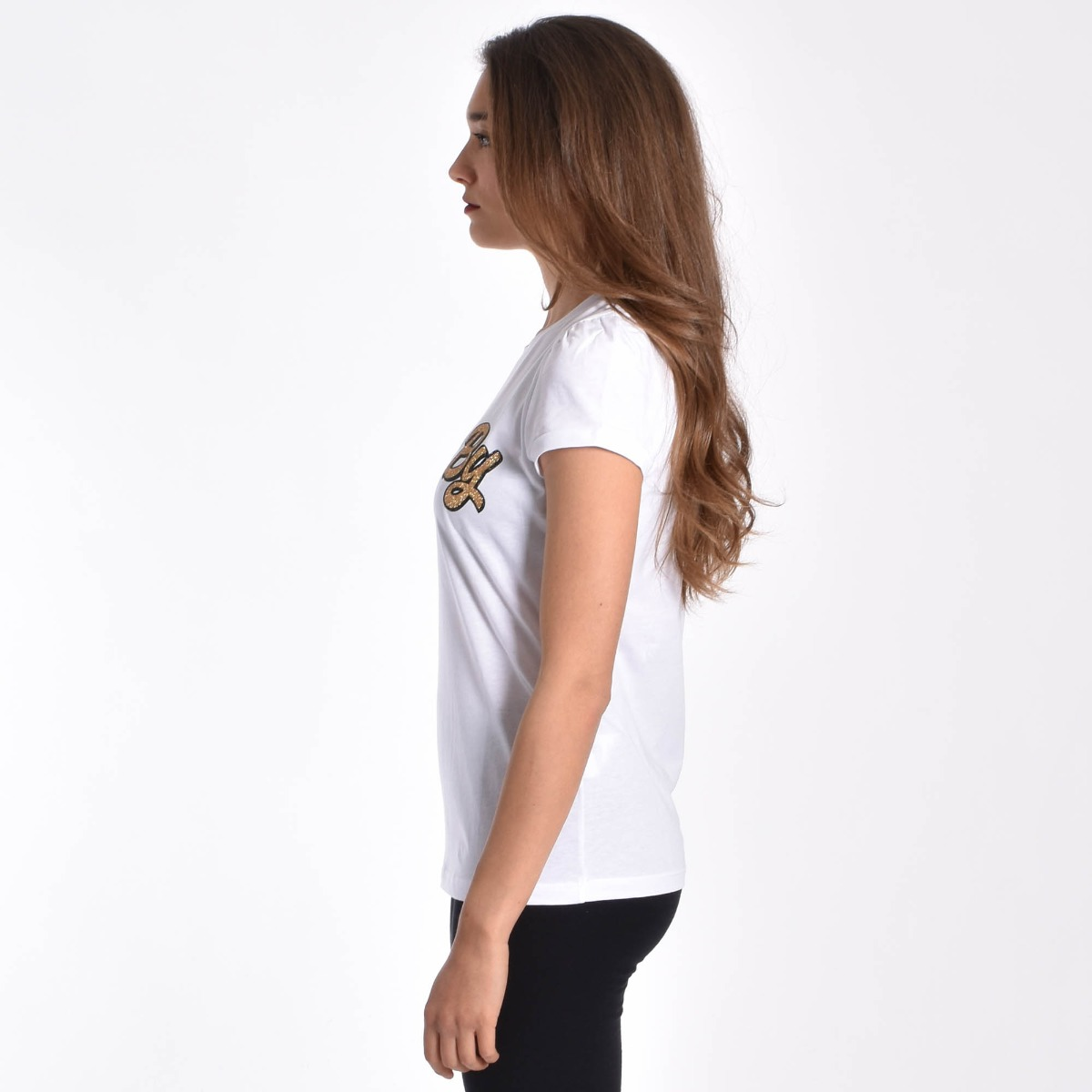 T-shirt aniye maty- Bianco/gold