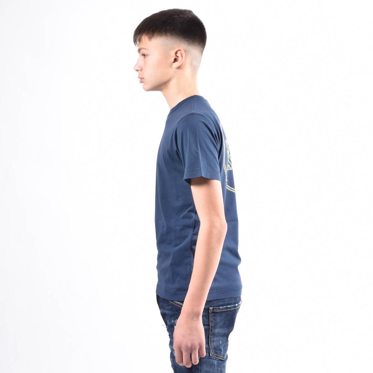 T-shirt logo-Blu