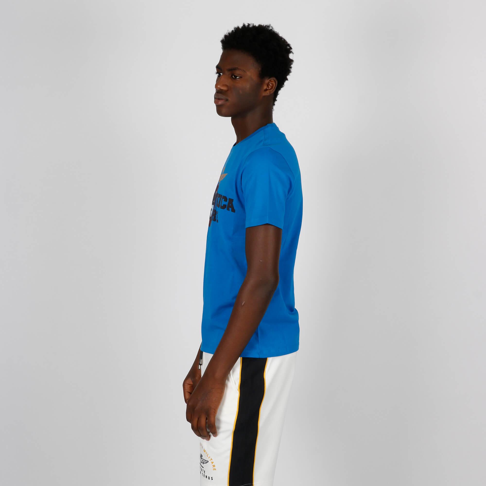 T-shirt maxi stampa logo - Bluette
