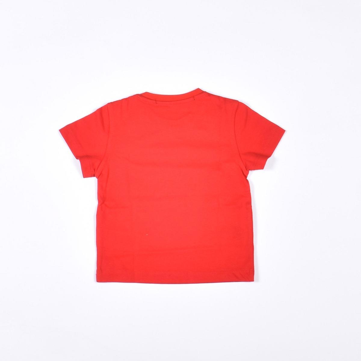 T-shirt neonato stampa logo- Rosso