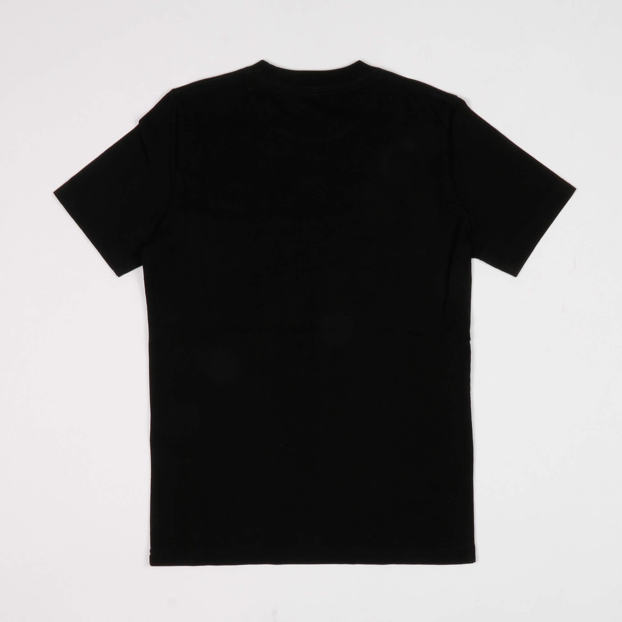 T-shirt scritta logo laterale - Nero