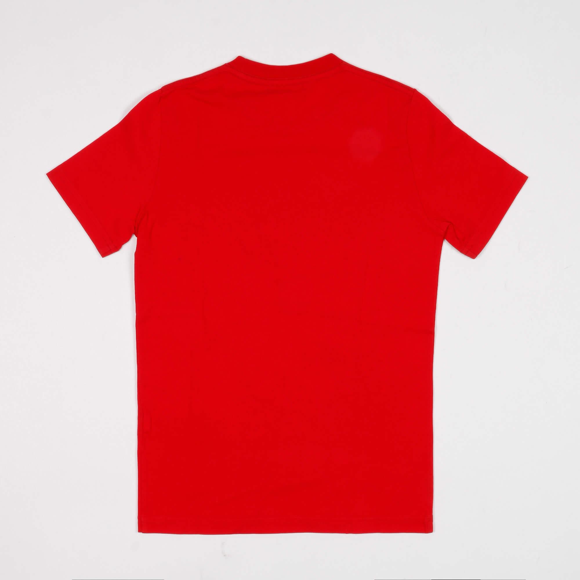 T-shirt scritta logo laterale - Rosso