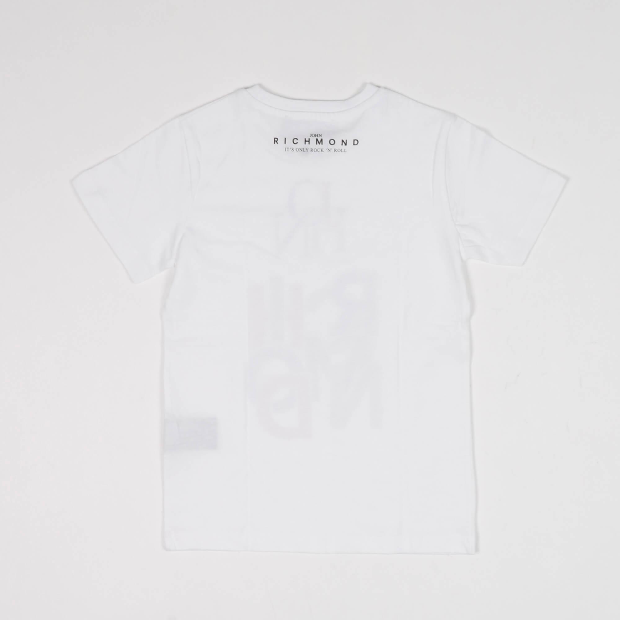 T-shirt logo lettering- Bianco