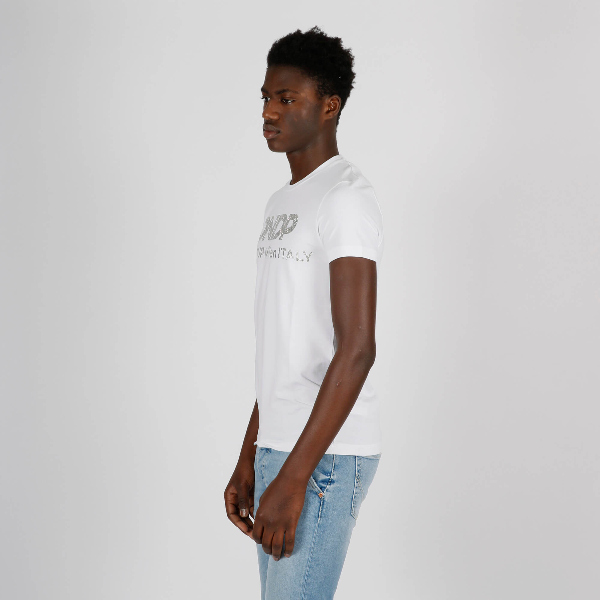 T-shirt logo evanescente - Bianco