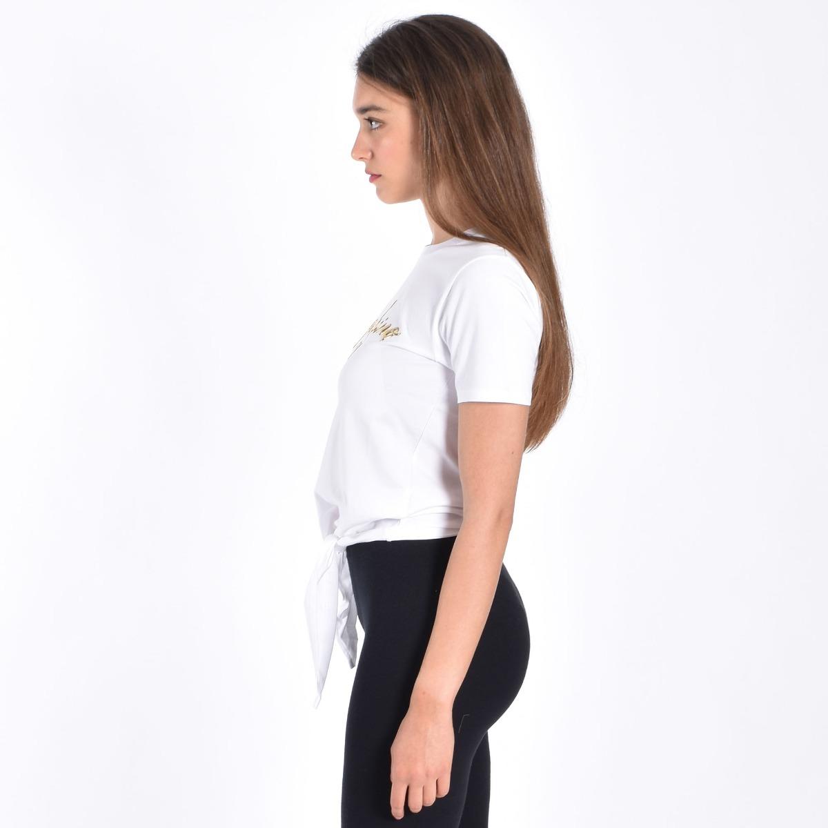 T-shirt nodo vita- Bianco