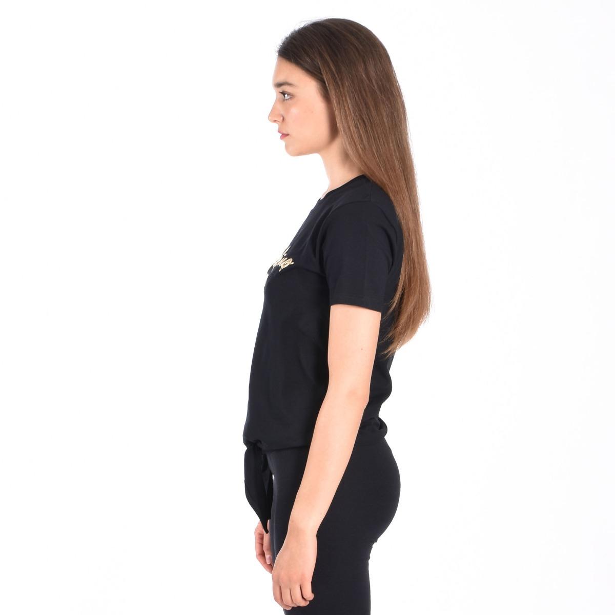 T-shirt nodo vita- Nero