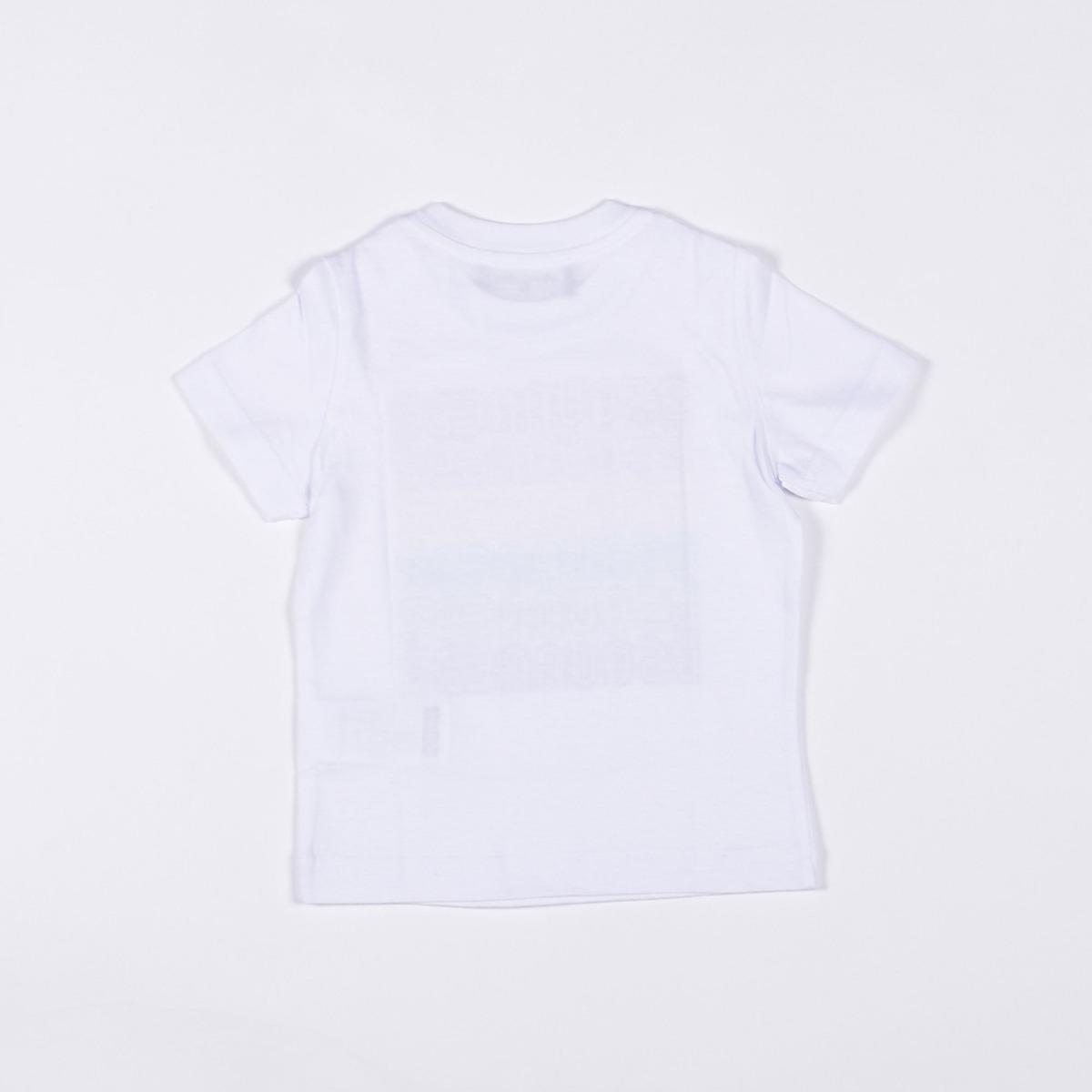 T-shirt logo rainbow- Bianco