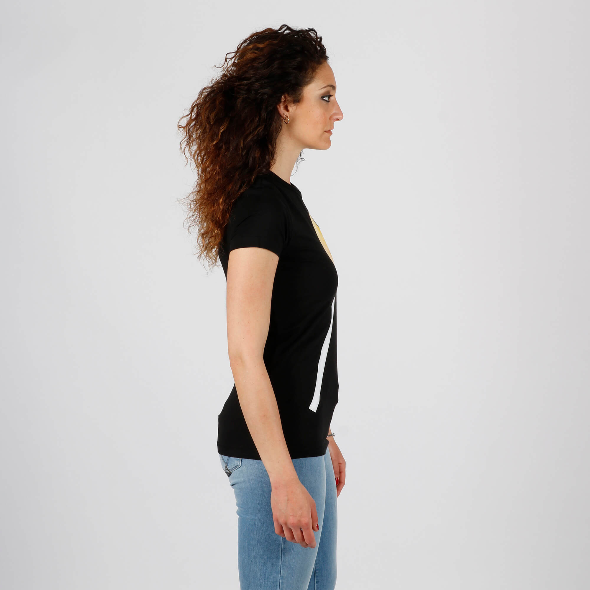 T-shirt lollipop cuore - Nero