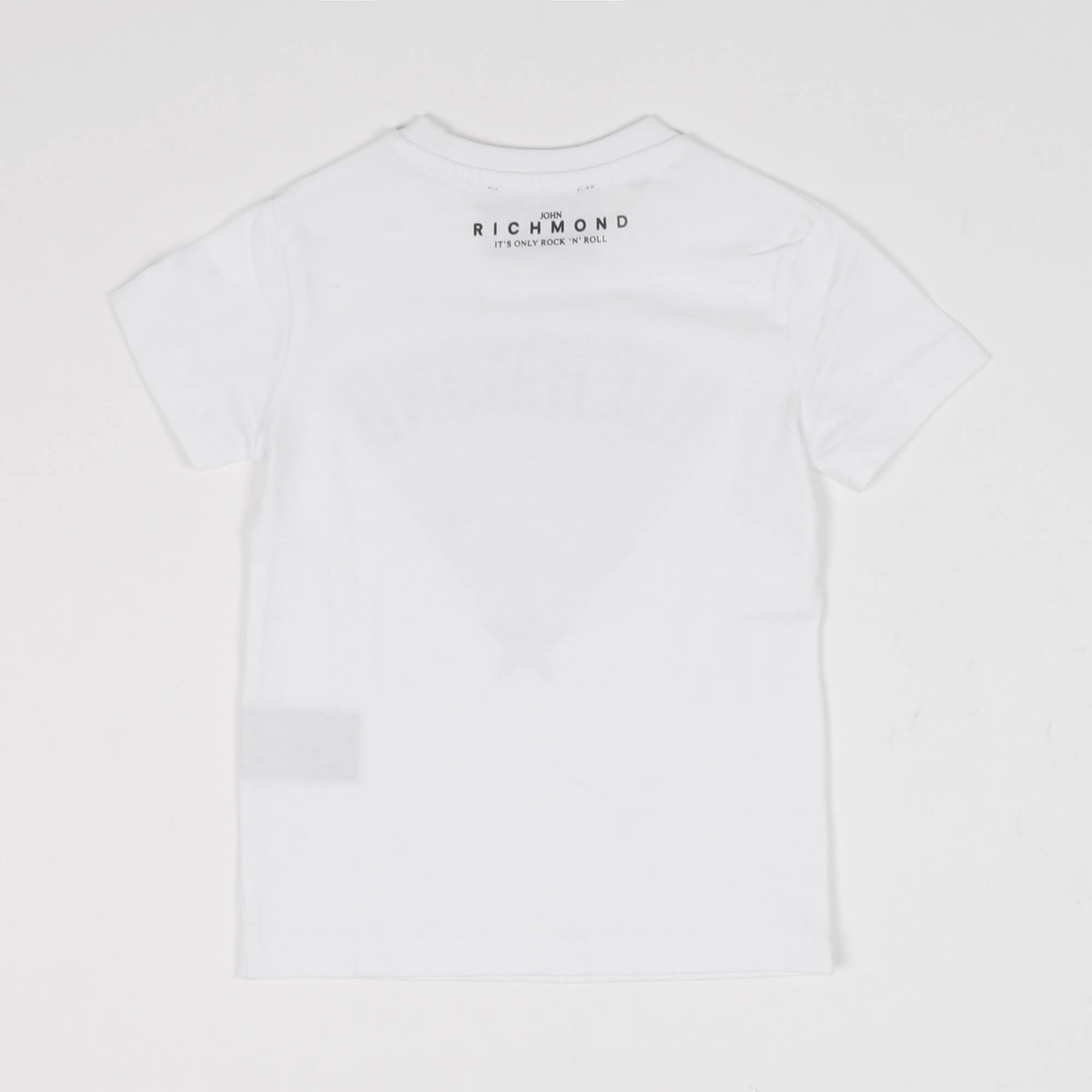 T-shirt logo e brillantini- Bianco