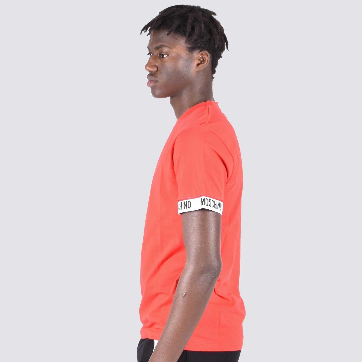 T-shirt fascia logo manica- Rosso