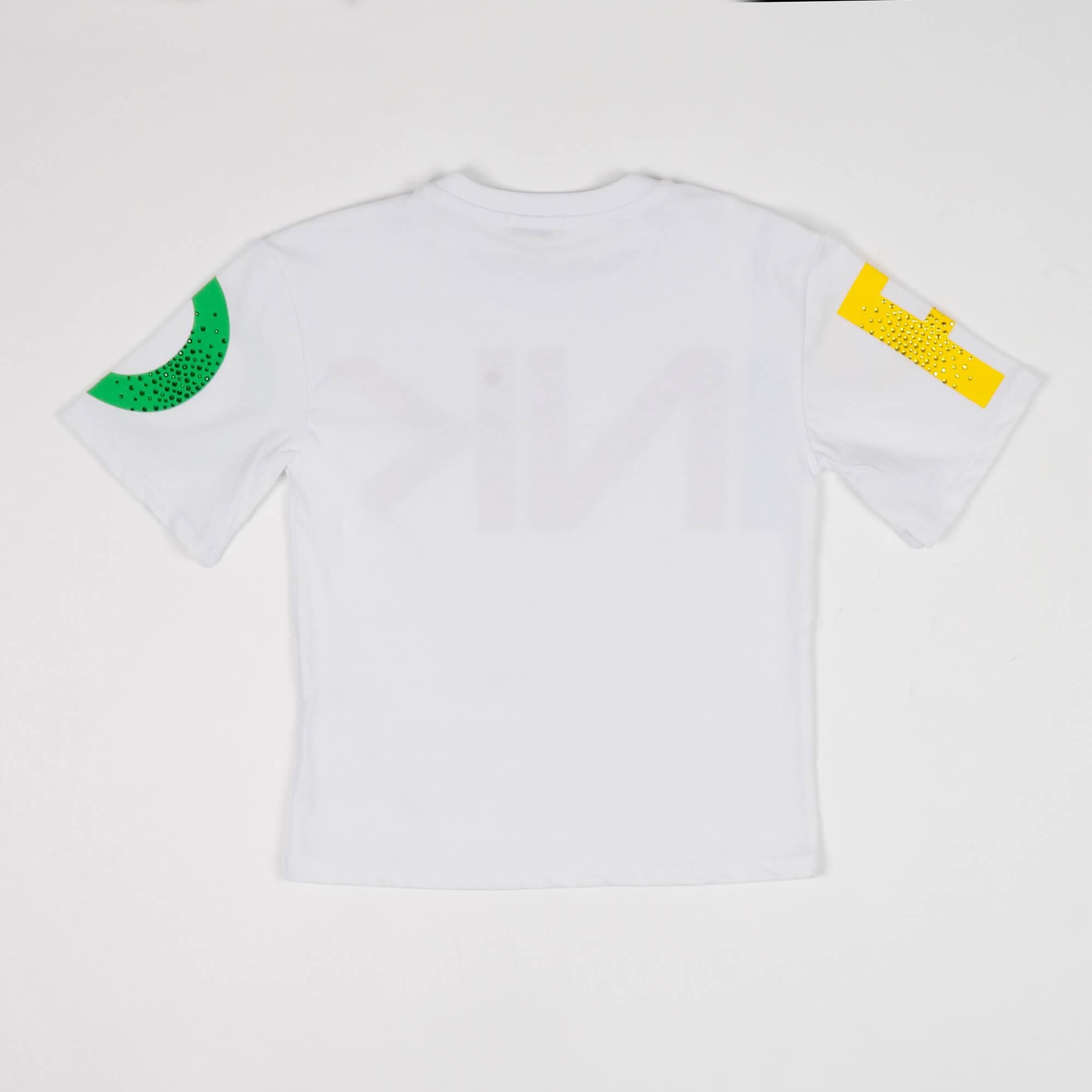 T-shirt maxi logo - Bianco