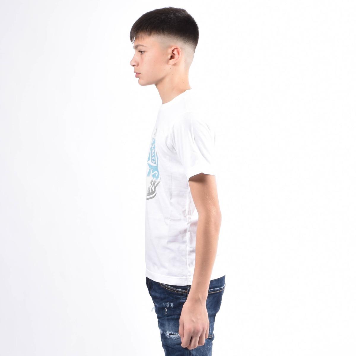 T-shirt maxi logo- Bianco