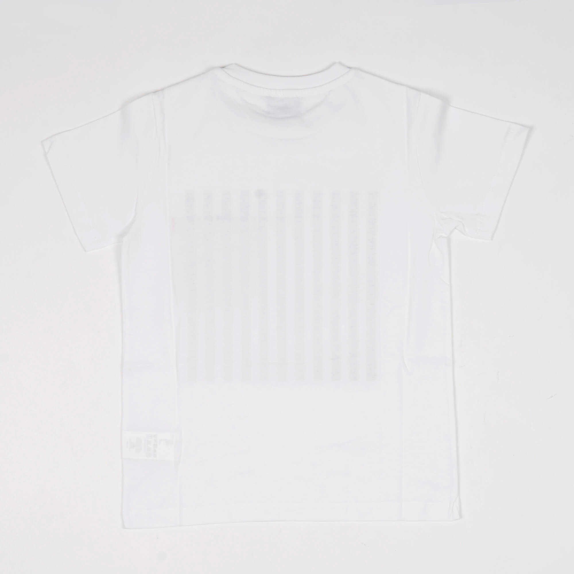 T-shirt maxi stampa- Bianco