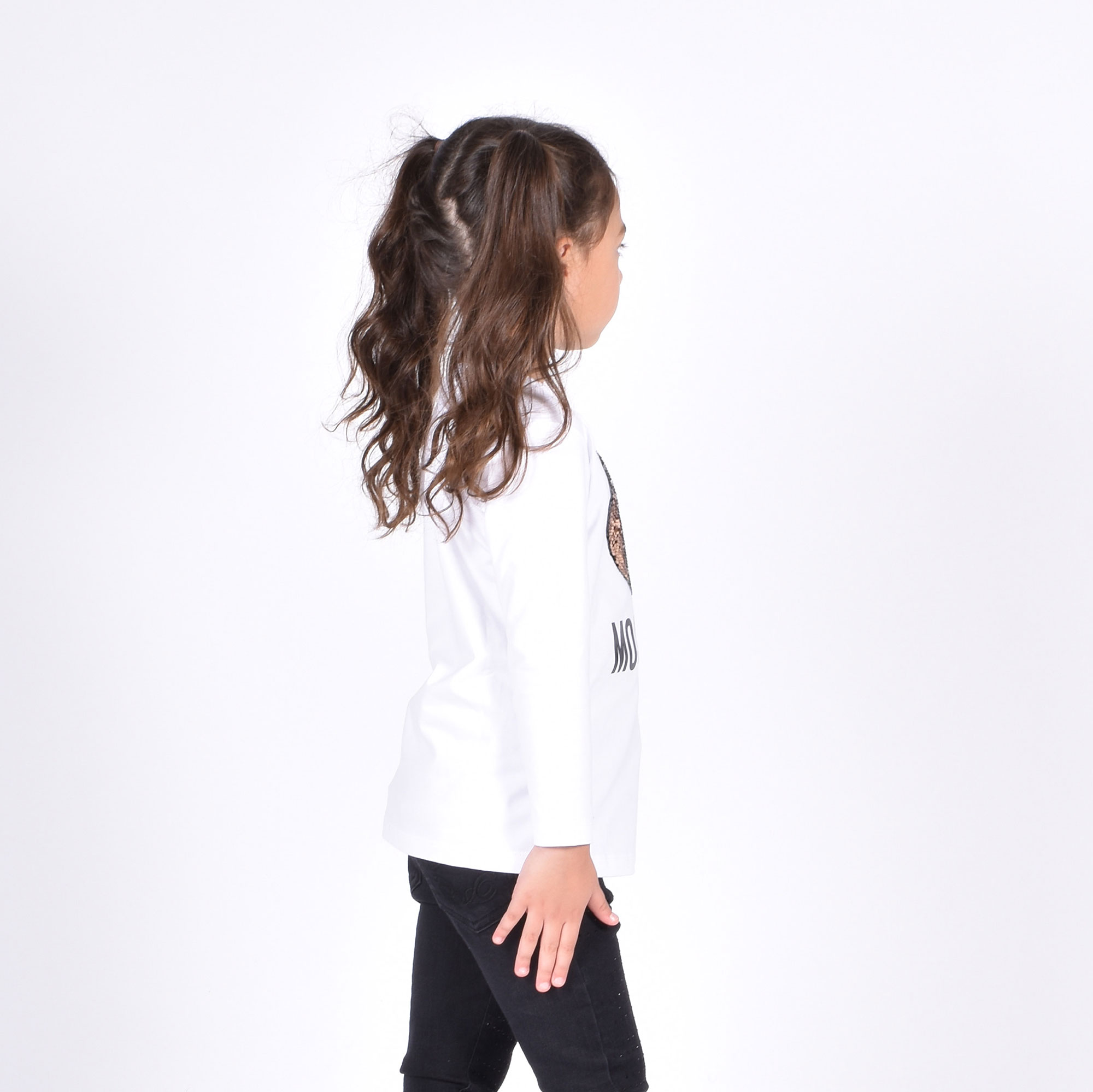 Maxi t-shirt orsetto - Bianco