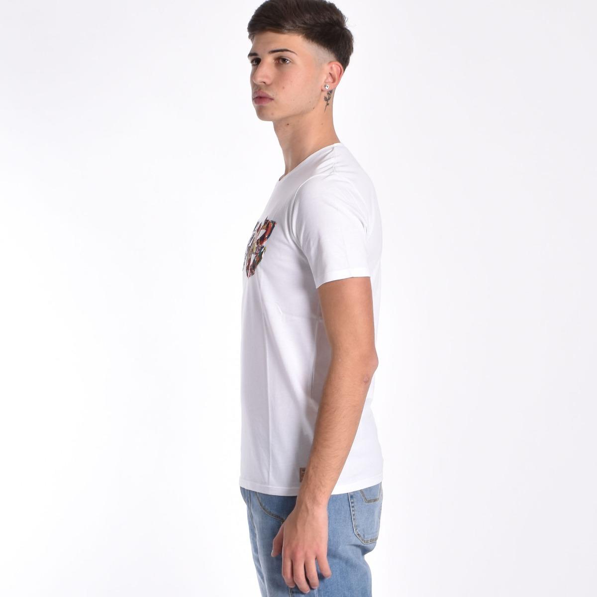 T-shirt patch logo- Bianco