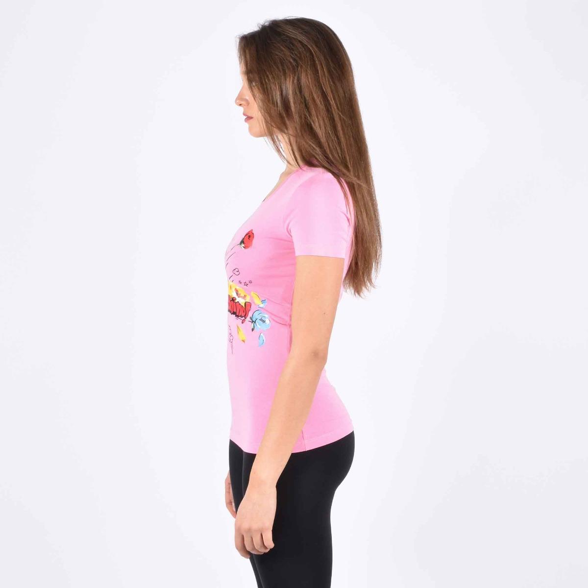 T-shirt pop flower- Rosa