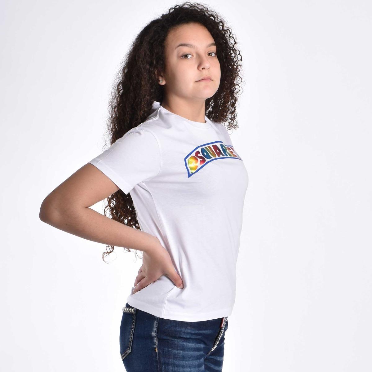 T-shirt logo- Bianco