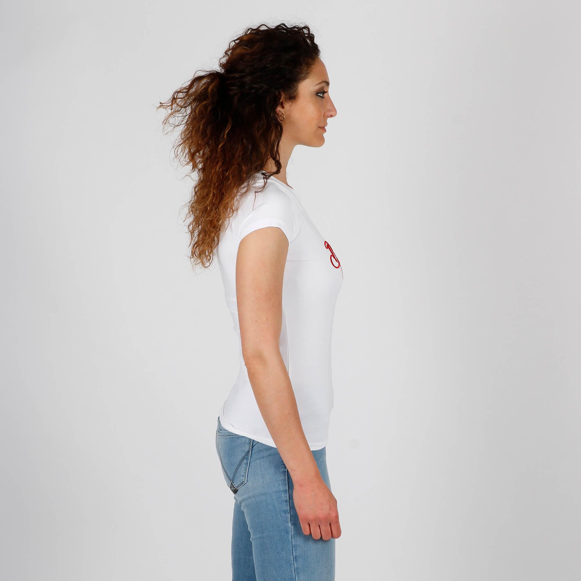 T-shirt born to love - Bianco