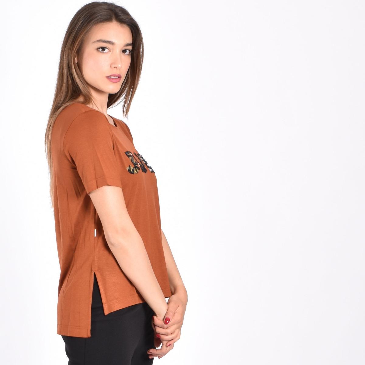 T-shirt ricamo logo metallic- Tegola