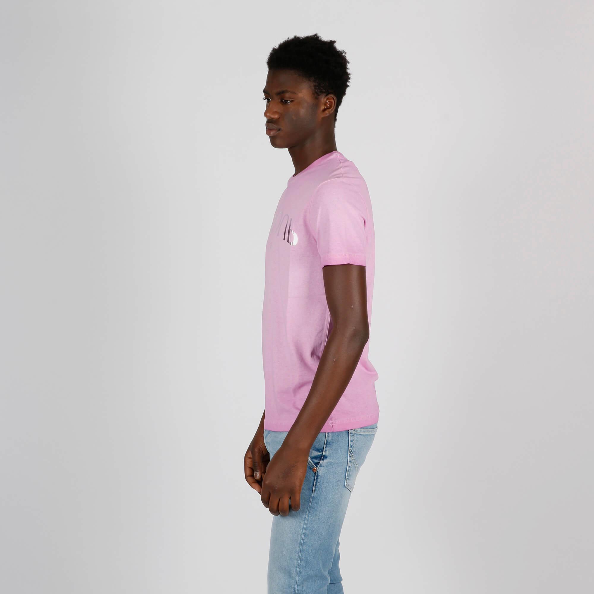 T-shirt stampa logo - Rosa