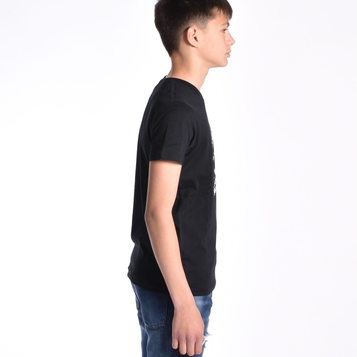 T-shirt con scritte - Nera