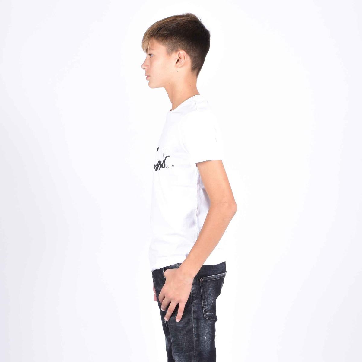 T-shirt scritta logo- Bianco