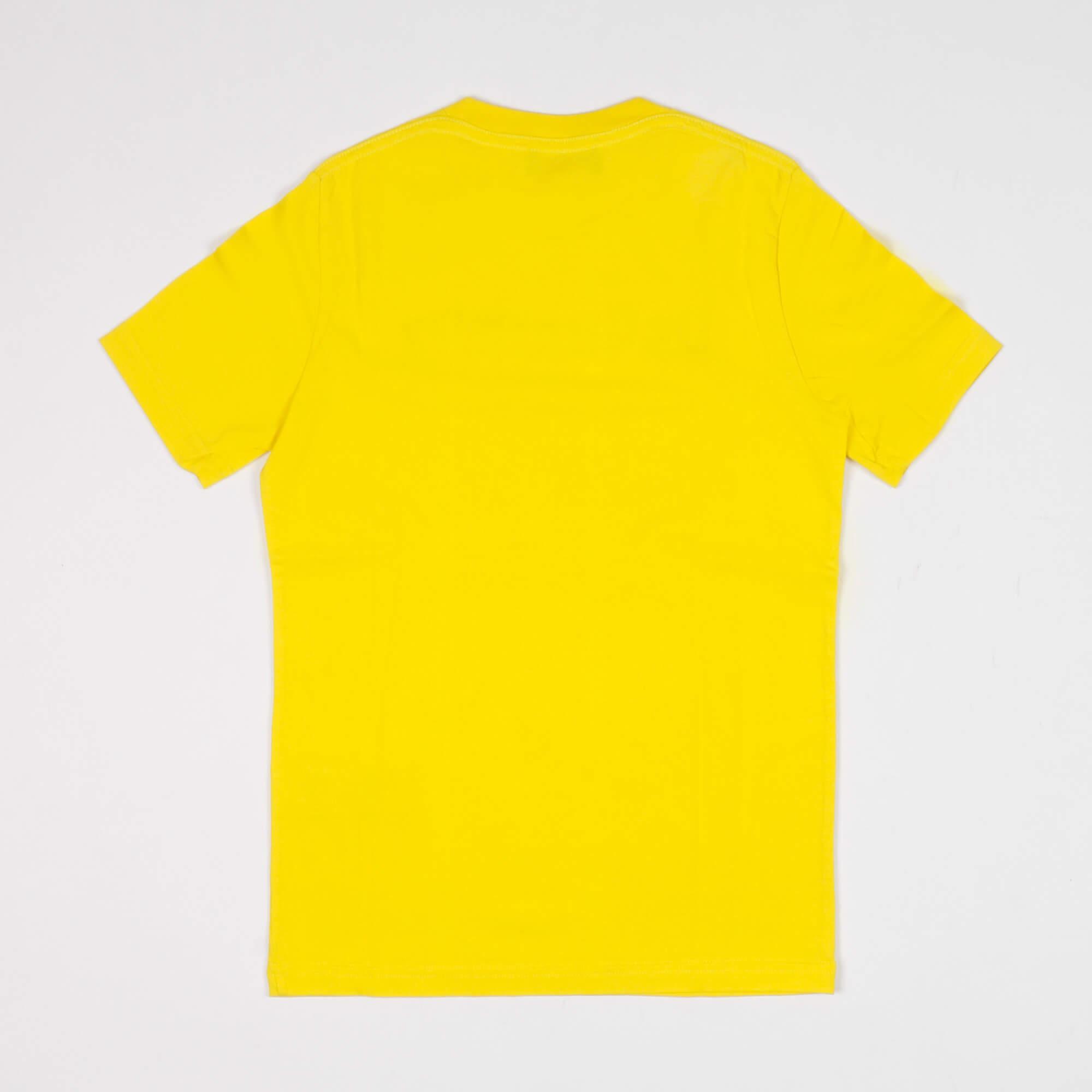 T-shirt scritta logo - Giallo