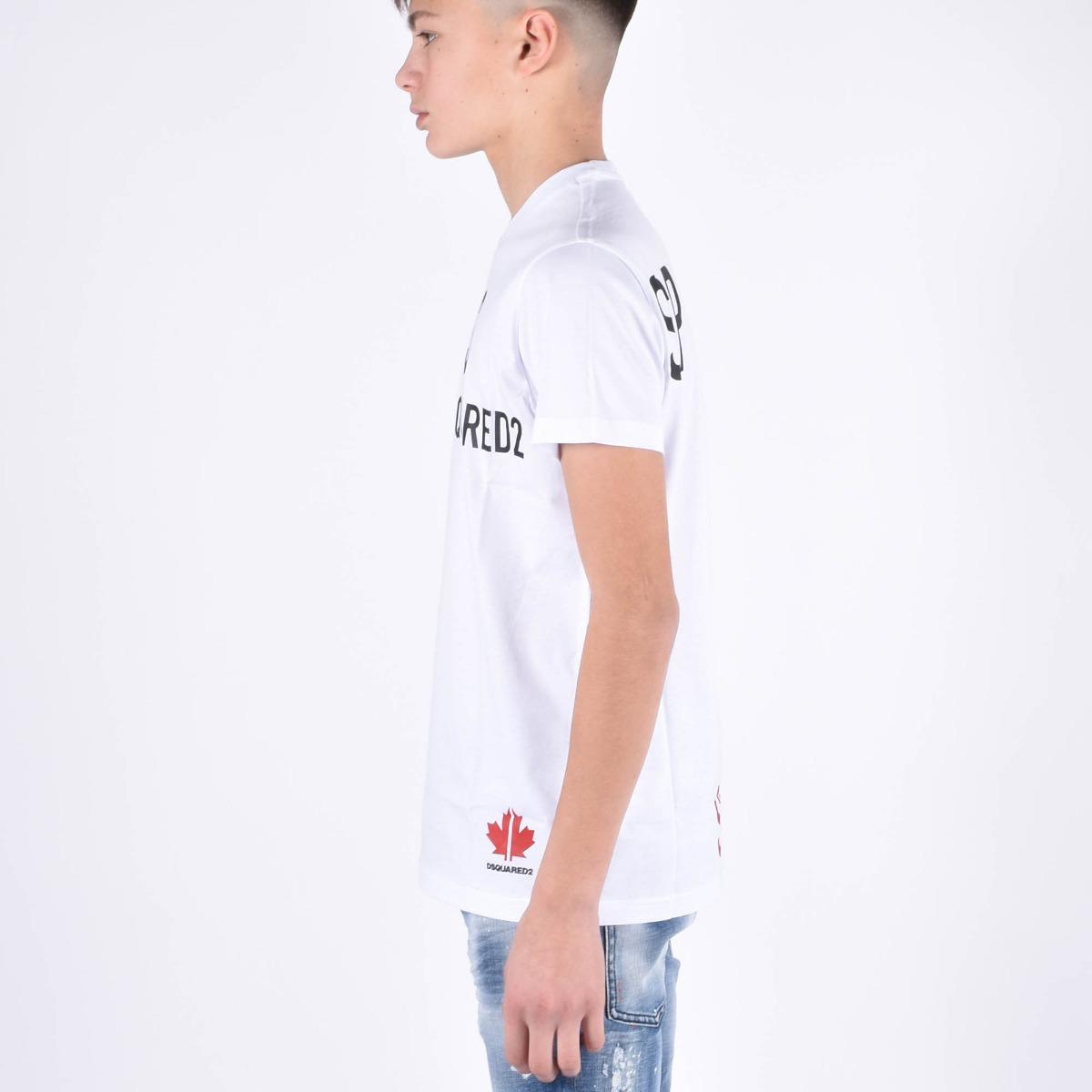T-shirt scritte a contrasto- White