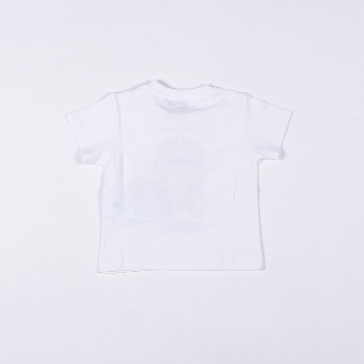 T-shirt neonato teddy pirata- Bianco