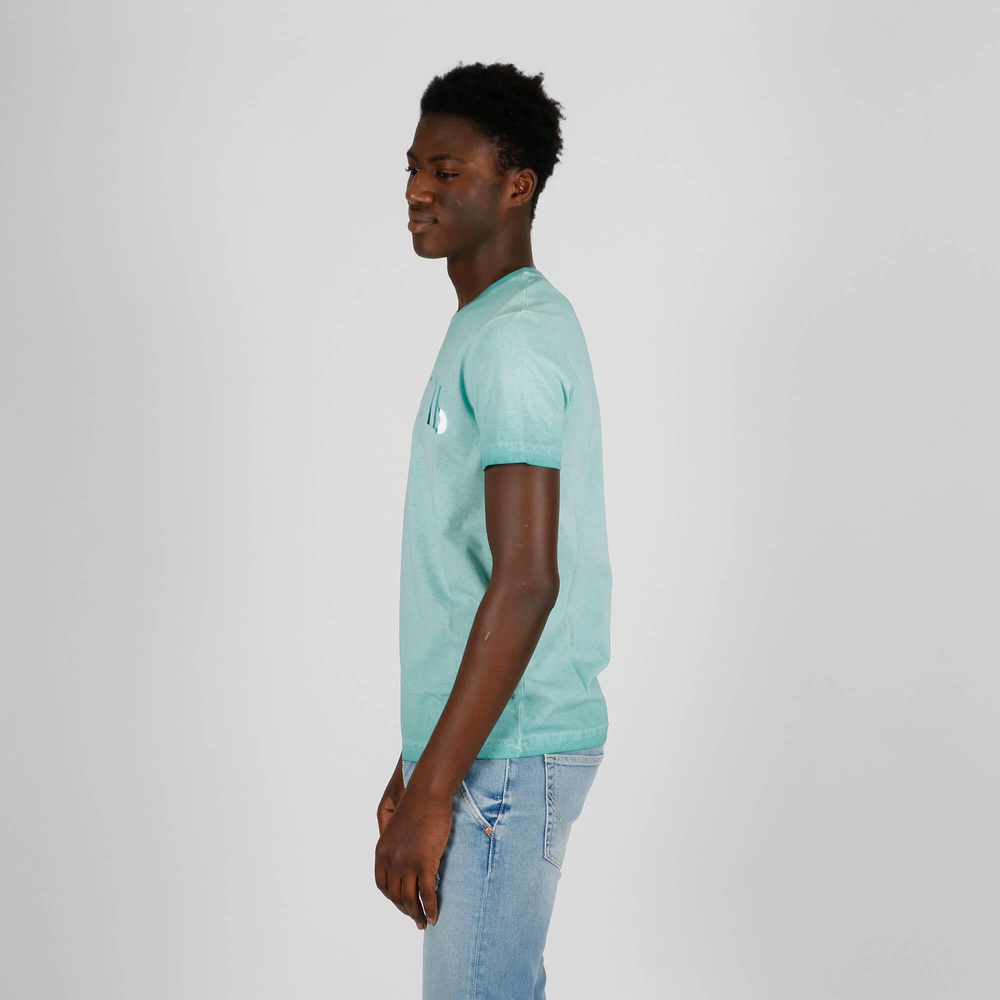 T-shirt stampa logo - Verde acqua