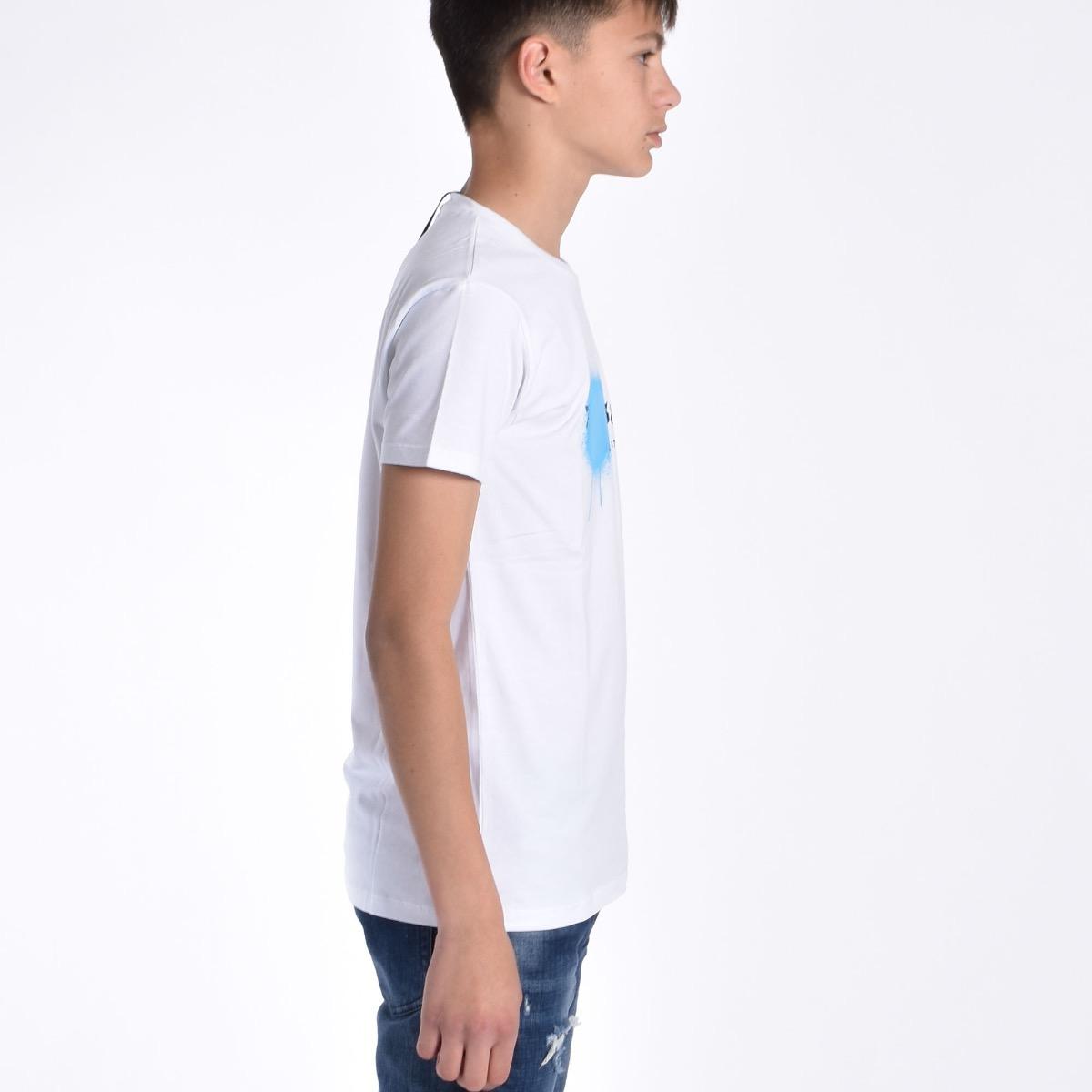 T-shirt con vernice - Bianca
