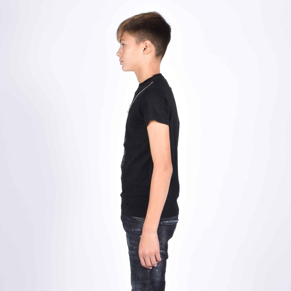 T-shirt logo e zip- Nero
