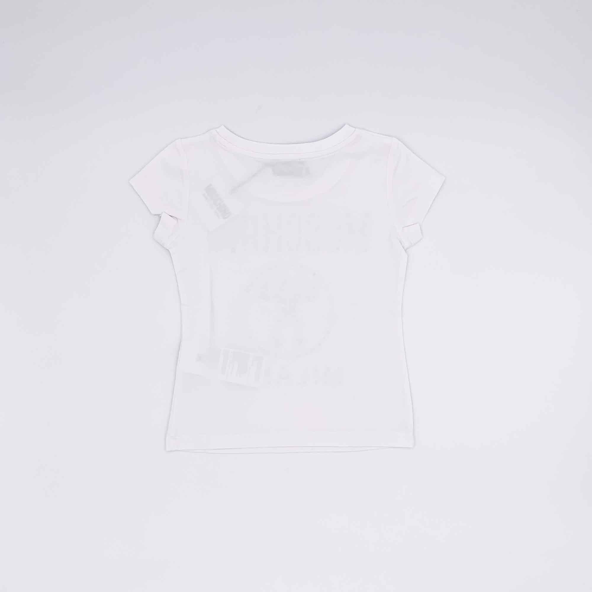 T-shirt logo strass -Bianco