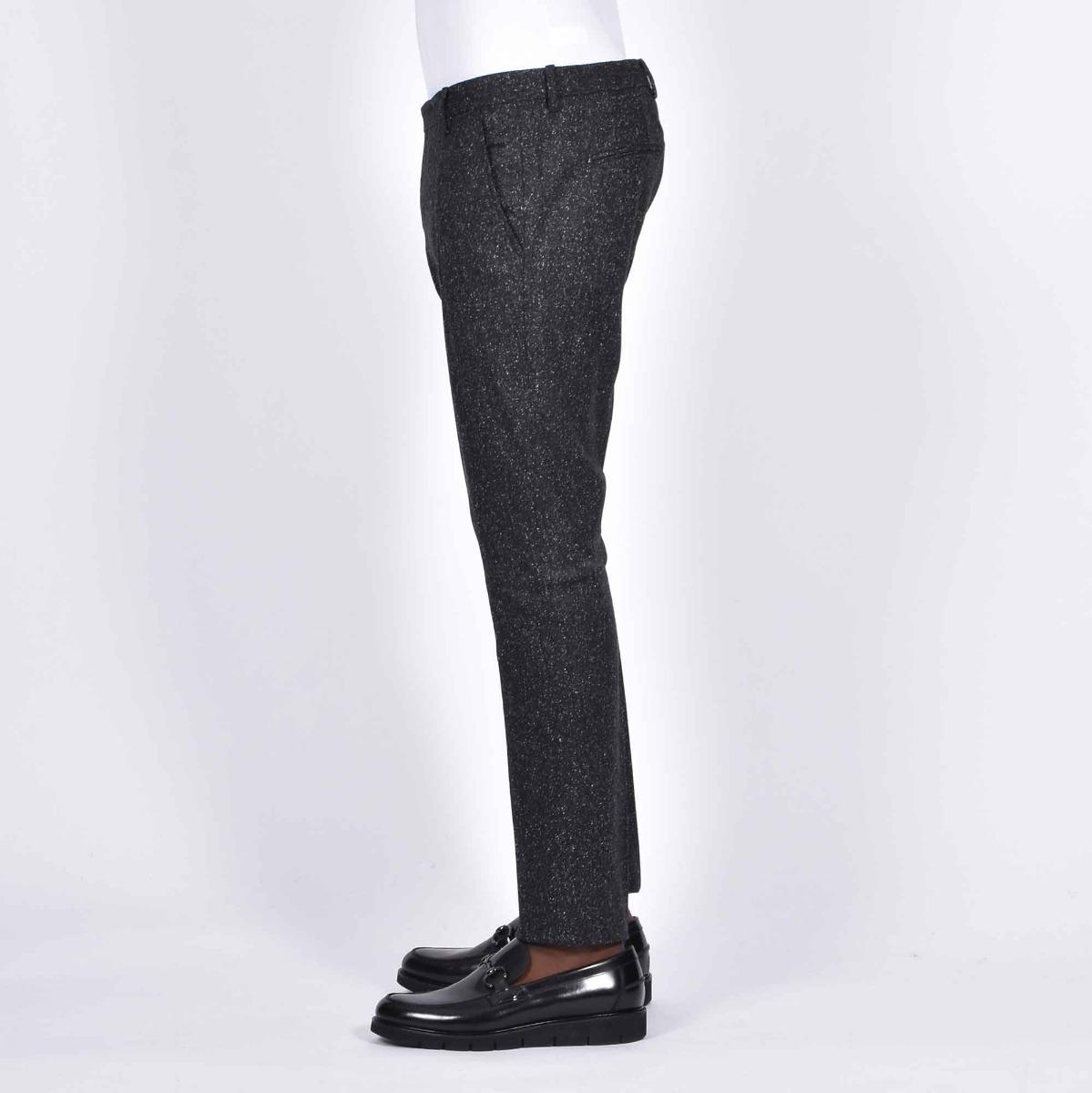 Pantalone fantasia sale e pepe- Nero