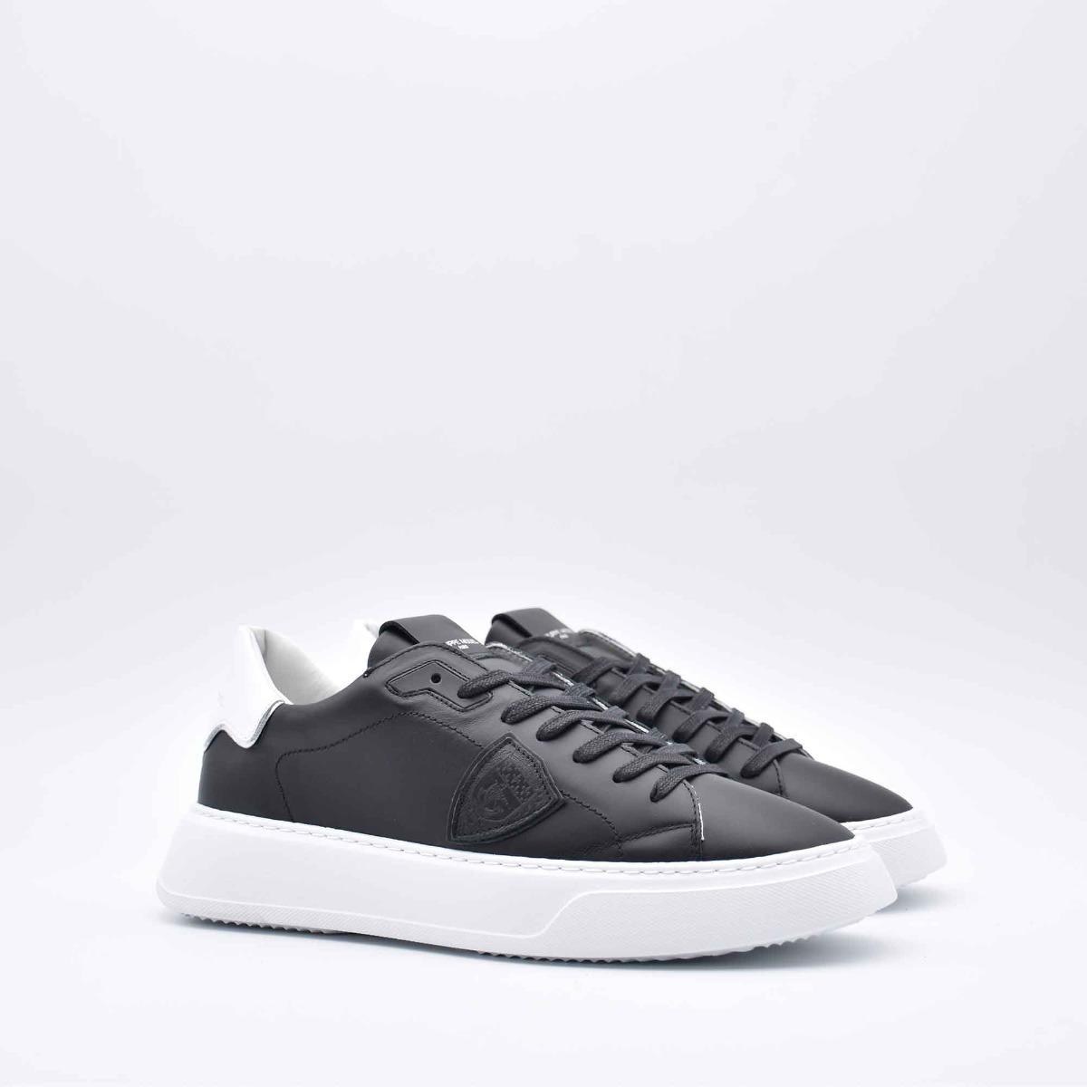 Sneakers temple blanc - Nero