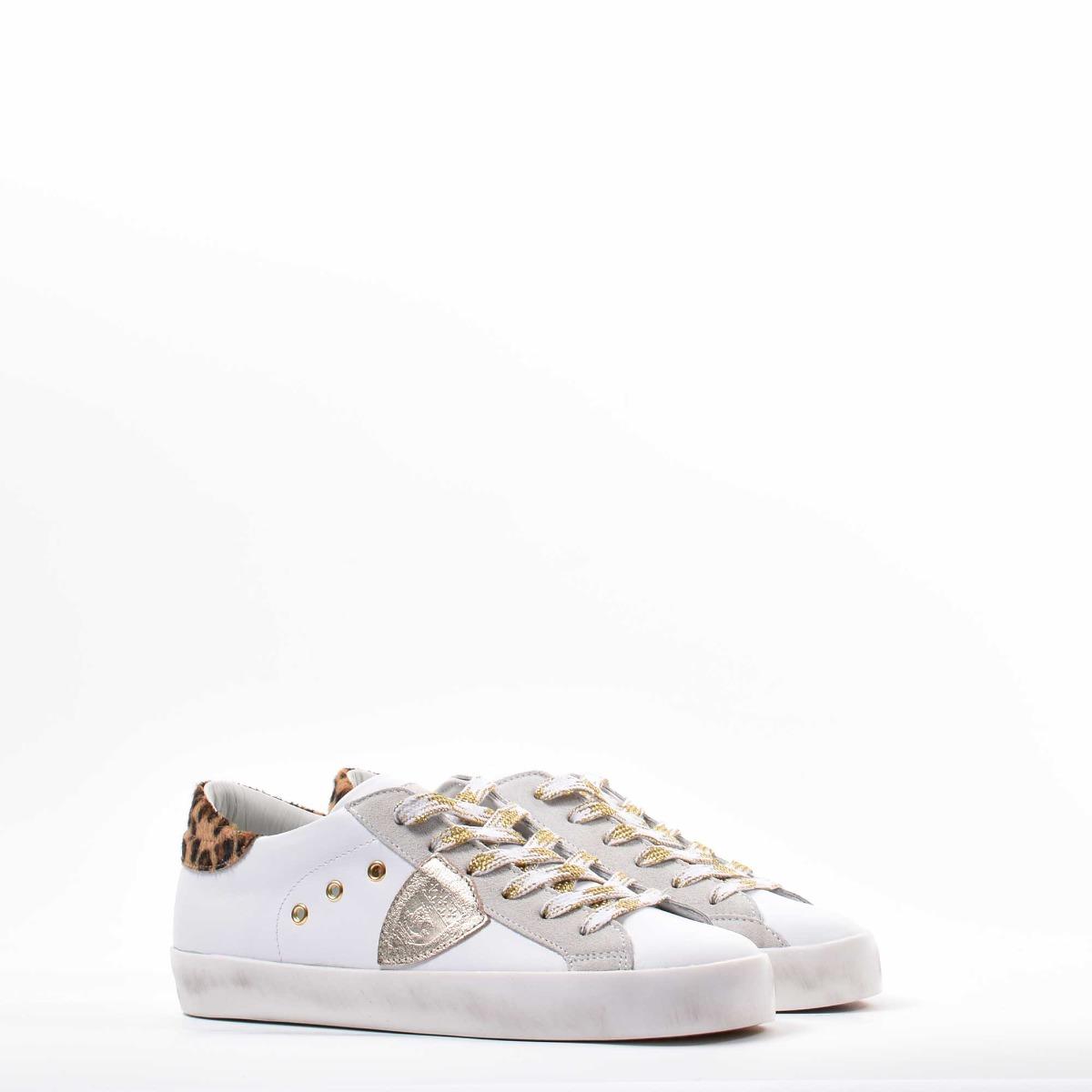 Temple low leopard - Bianco