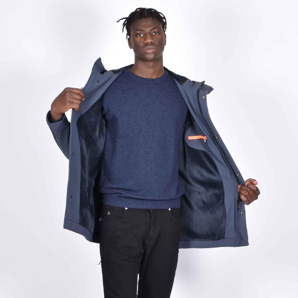 Thermojacket con cappuccio - Blu azzurro