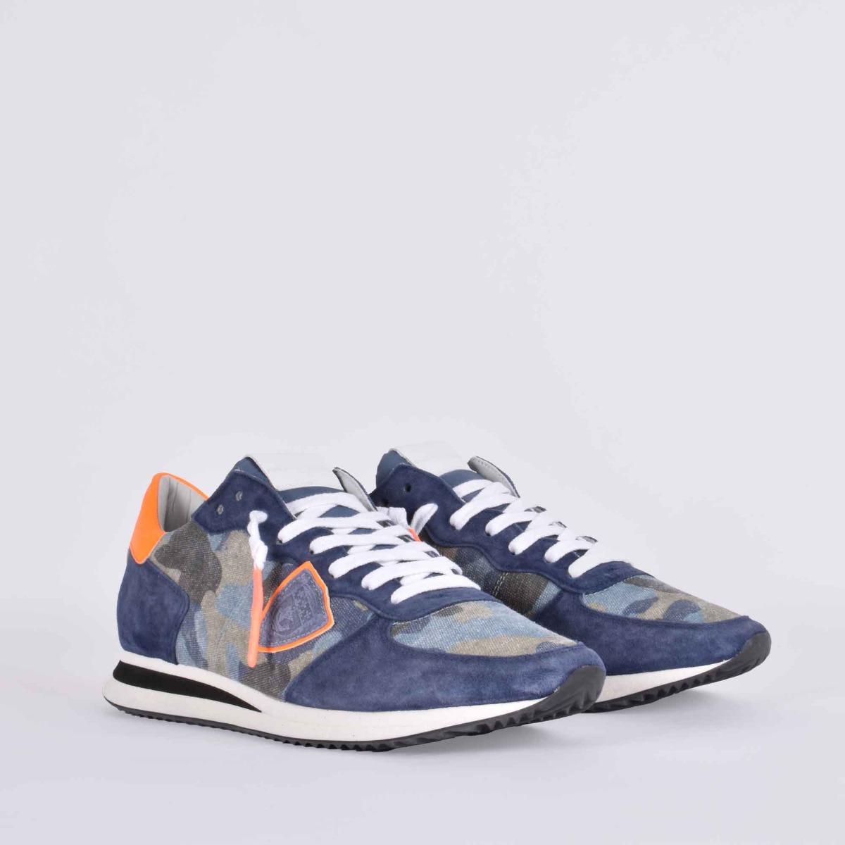 Trpx camouflage neon- Blu jeans/ orange