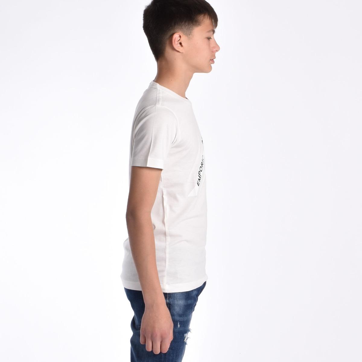 T-shirt fascia con logo - Bianca