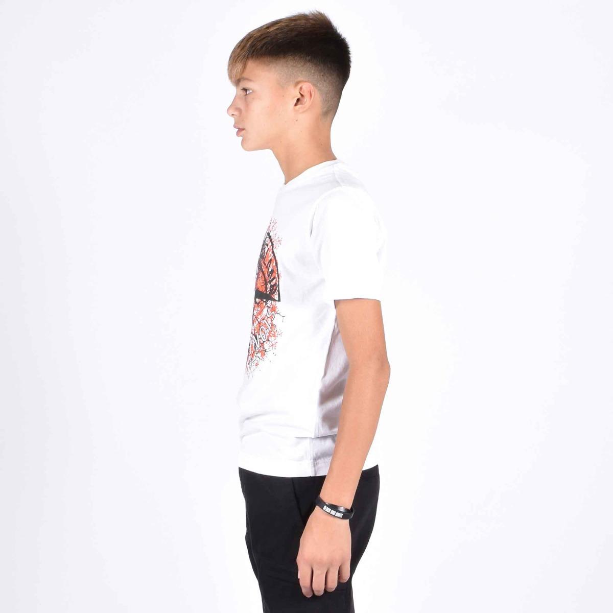 T-shirt logo stone - Bianco