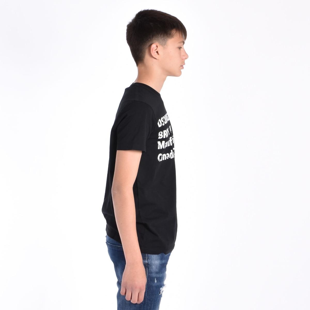 T-shirt con stampa lucida - Nera