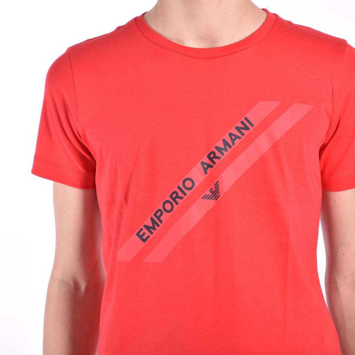T-shirt fascia con logo - Rossa