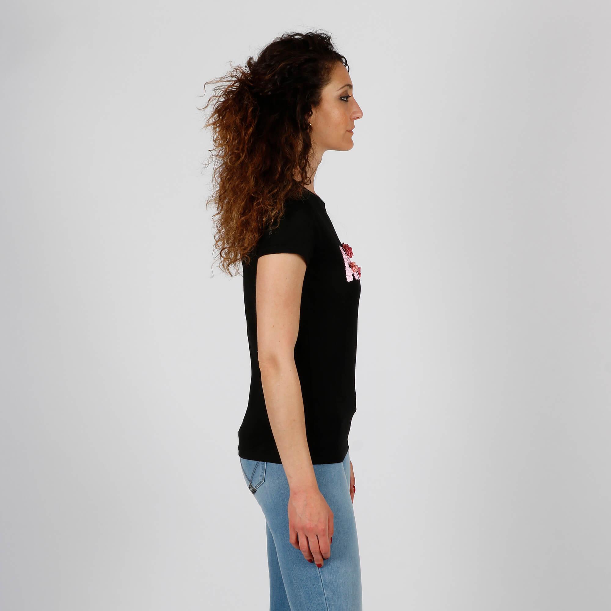 T-shirt amour - Nero