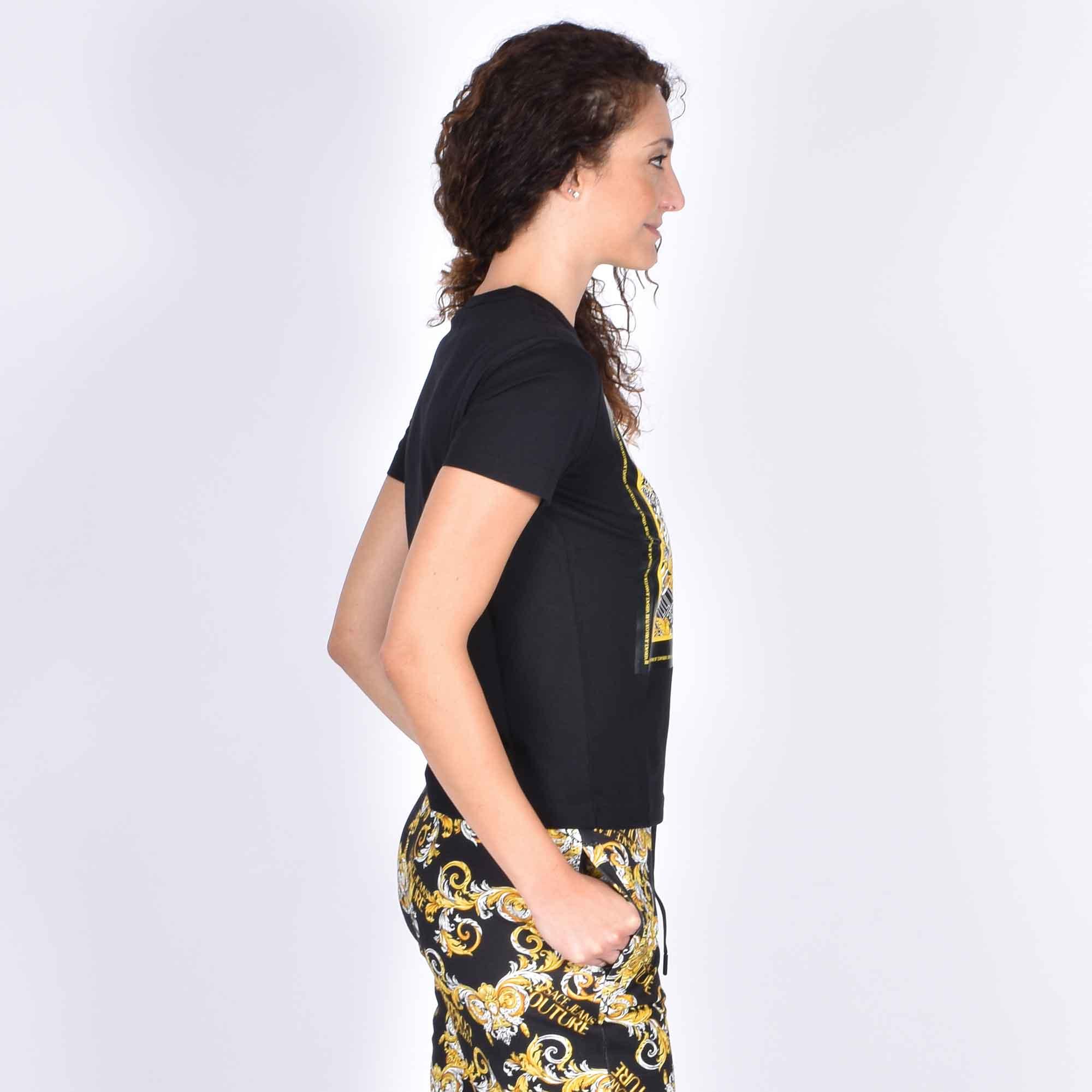 T-shirt bandana baroque - Nero