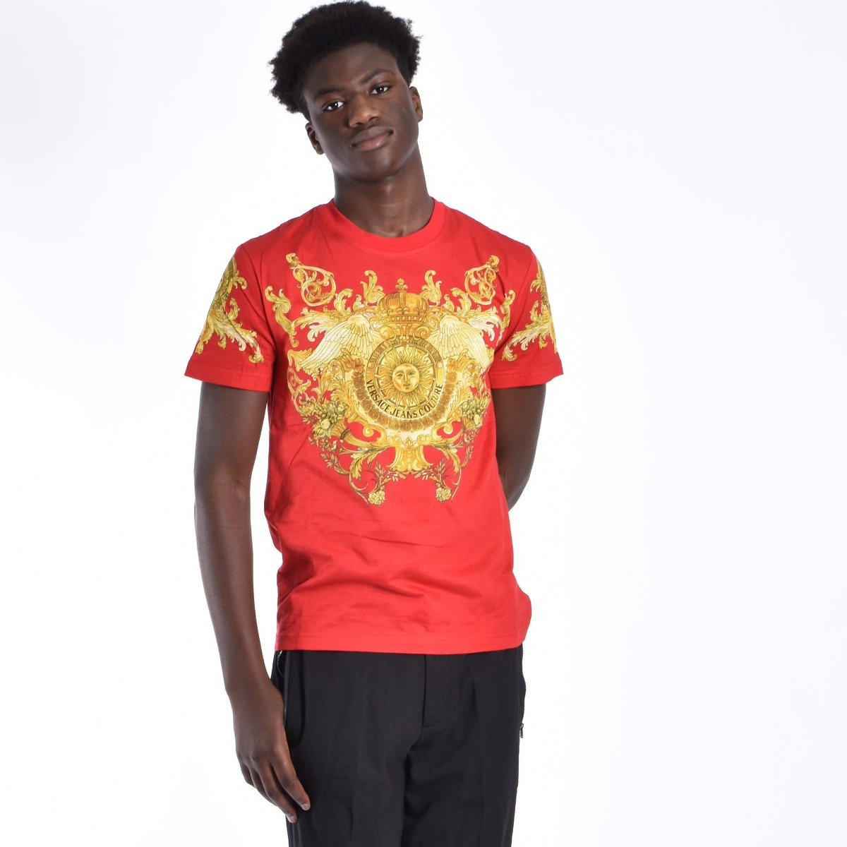 T-shirt panel baroque - Rosso