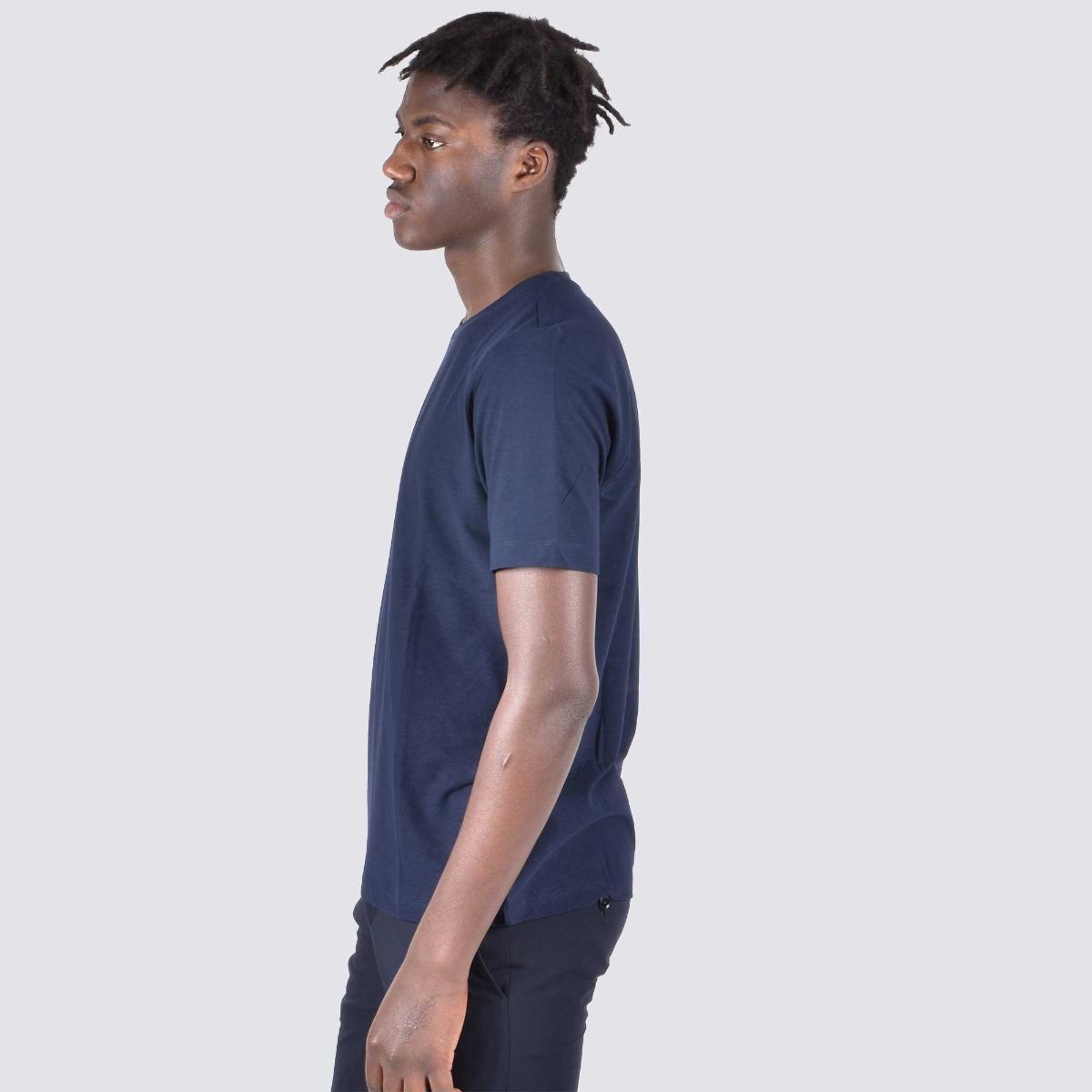 T-shirt mc fiammato - Blu